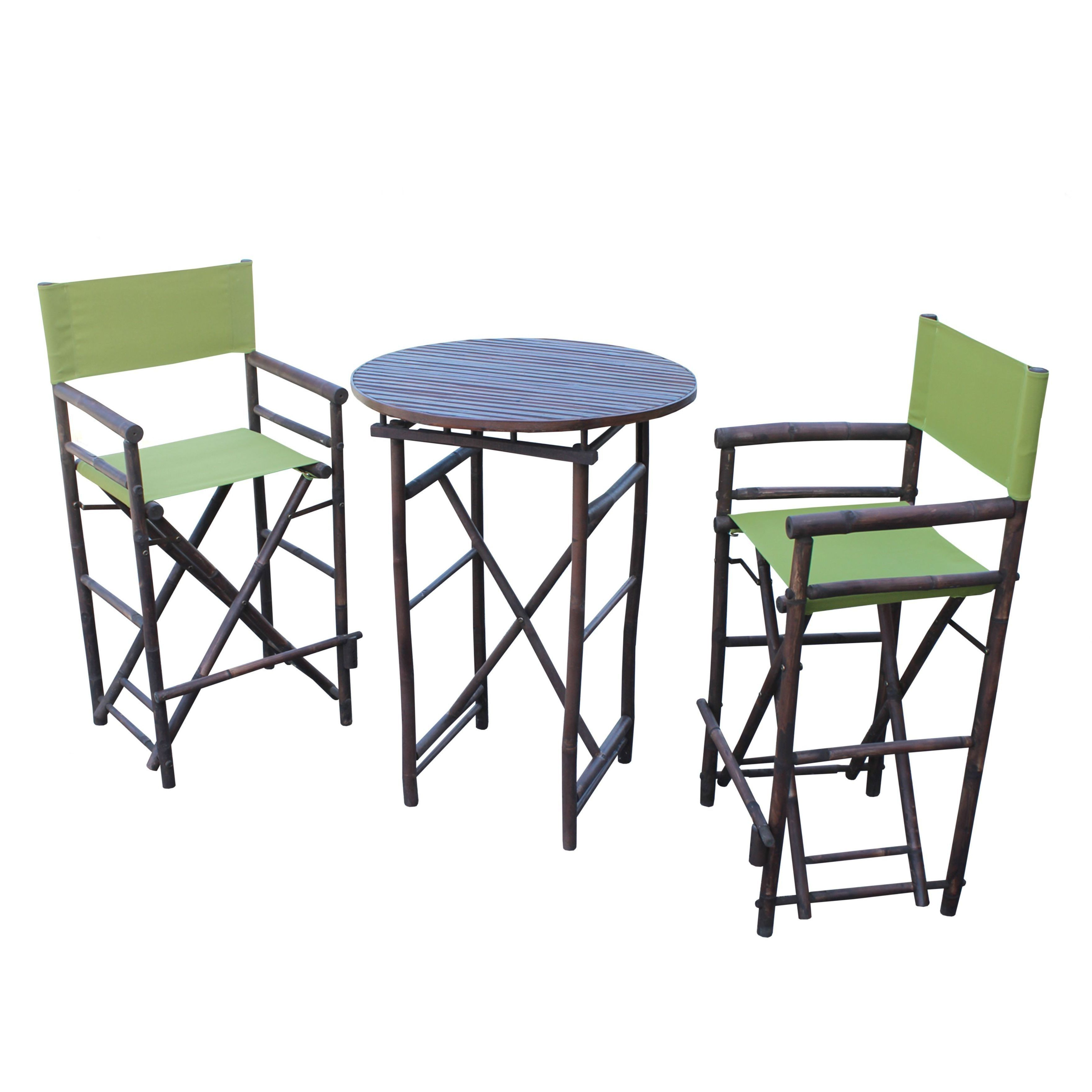 Well Liked Wallflower 3 Piece Dining Sets For Zew Espresso Handcrafted Round Bar Height Pub Set (View 20 of 20)