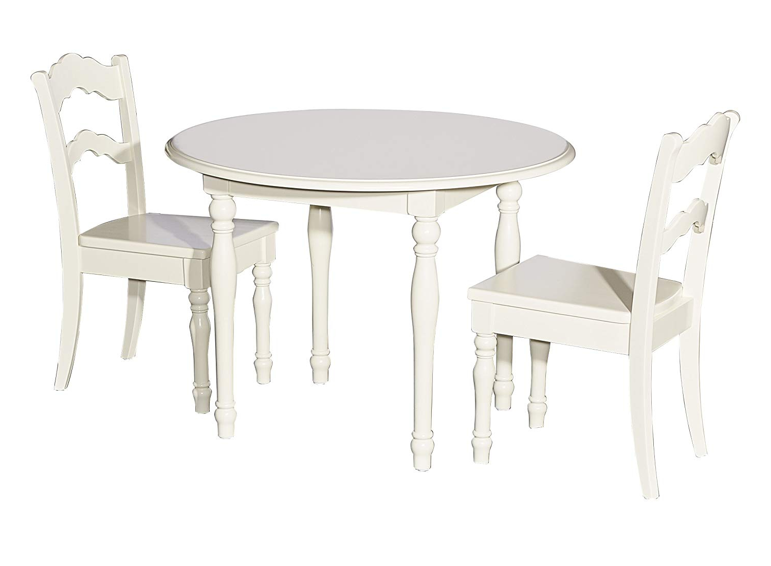 Well Liked West Hill Family Table 3 Piece Dining Sets With Regard To Powell Furniture 16y1004 Table And 2 Chairs, Cream Youth (View 20 of 20)