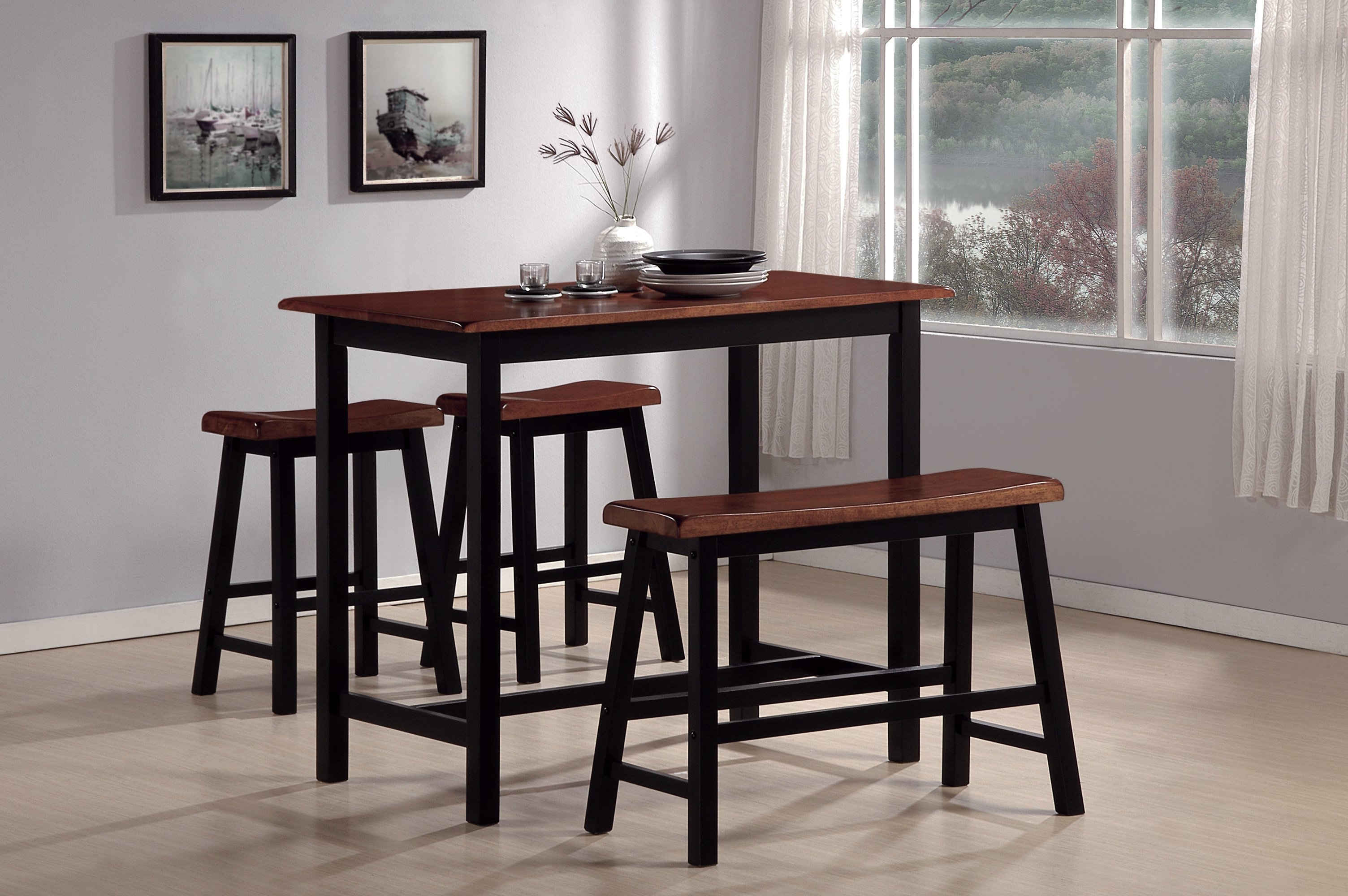 Well Liked Winsted 4 Piece Counter Height Dining Set Inside Tenney 3 Piece Counter Height Dining Sets (View 16 of 20)
