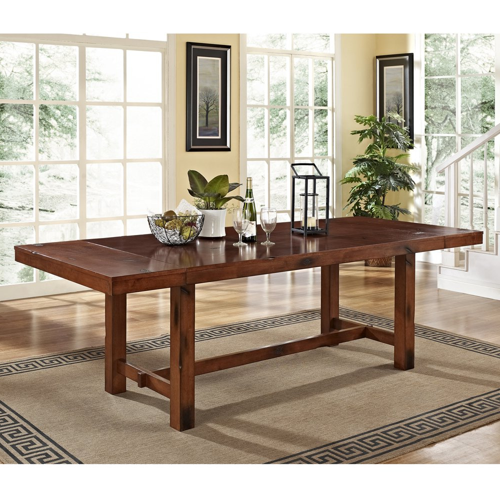 West Hill Family Table 3 Piece Dining Sets With Most Current 6 Piece Solid Wood Dining Set, Dark Oak (View 15 of 20)