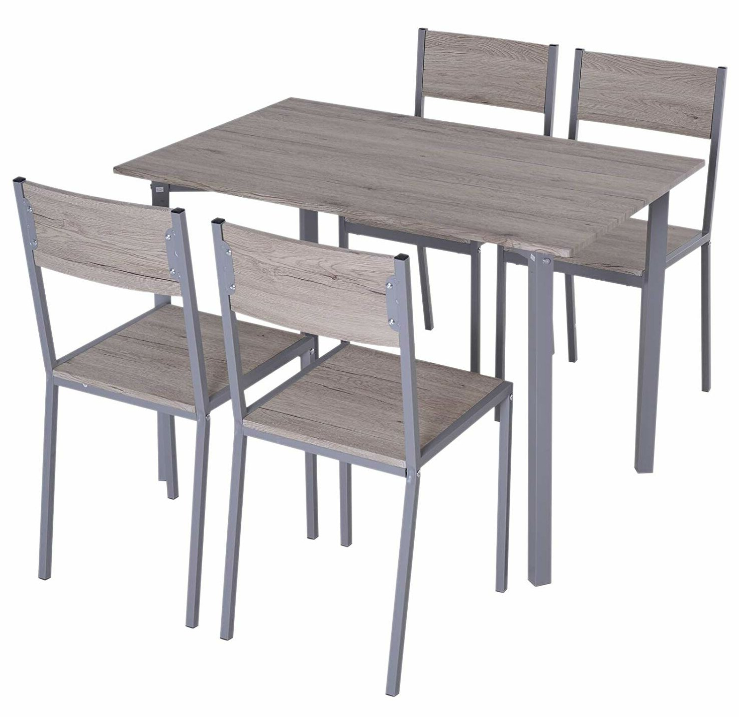 Westendorf Modern Compact 5 Piece Dining Set With Current Tavarez 5 Piece Dining Sets (View 20 of 20)