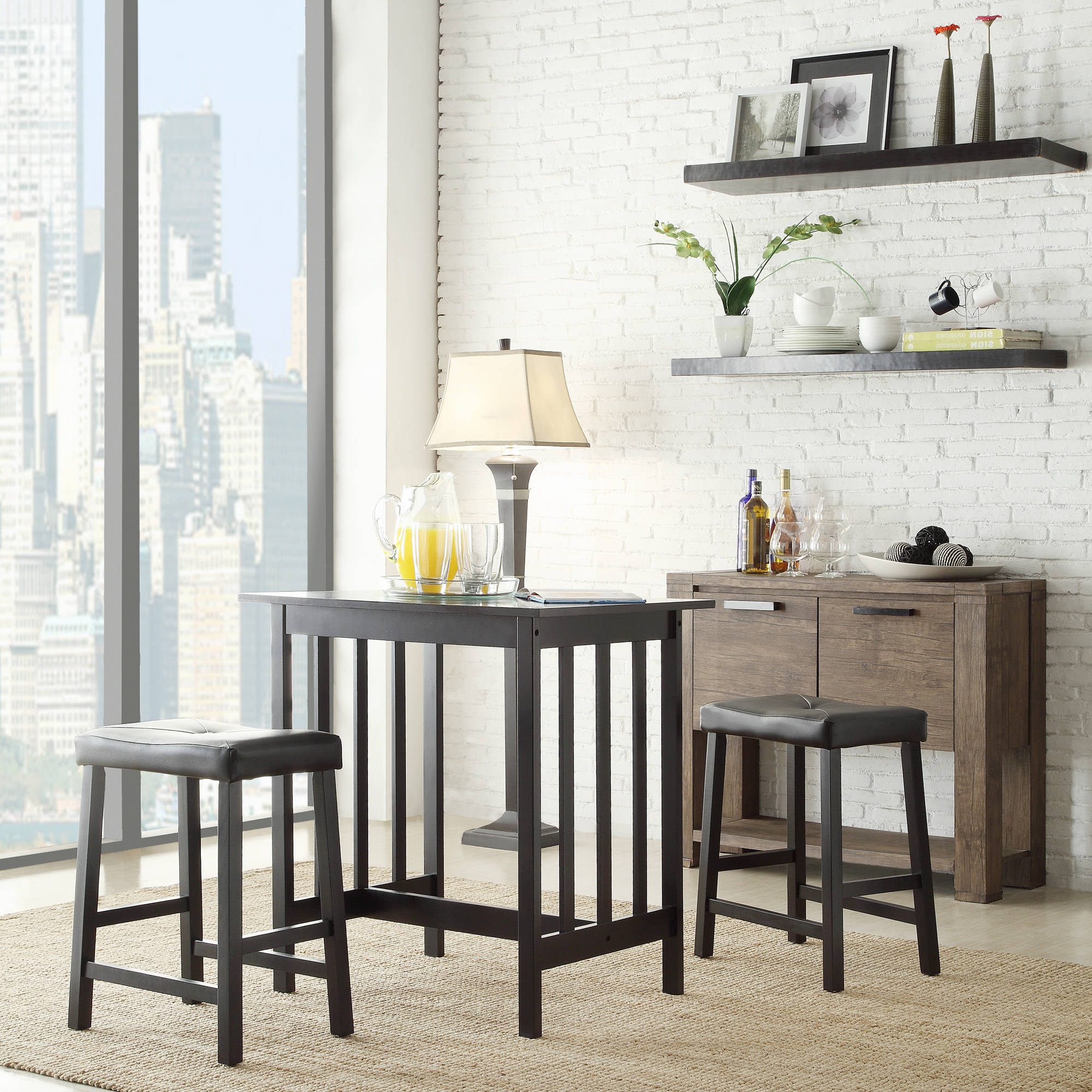 Weston Home Scottsdale 3 Piece Dining Set, Multiple Colors Pertaining To Well Liked 3 Piece Breakfast Dining Sets (View 15 of 20)
