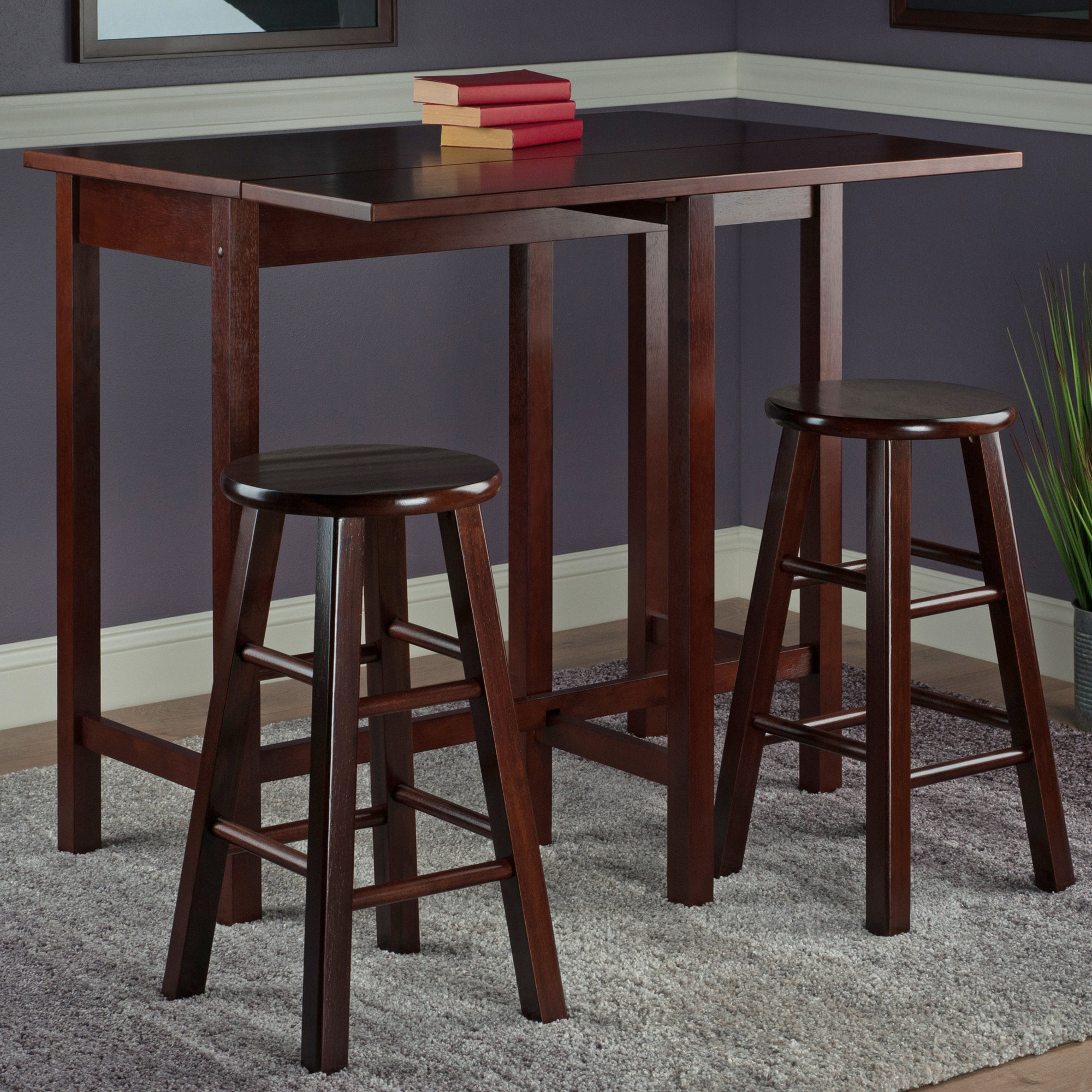 Widely Used Bettencourt 3 Piece Counter Height Pub Table Set Pertaining To Bettencourt 3 Piece Counter Height Solid Wood Dining Sets (View 20 of 20)