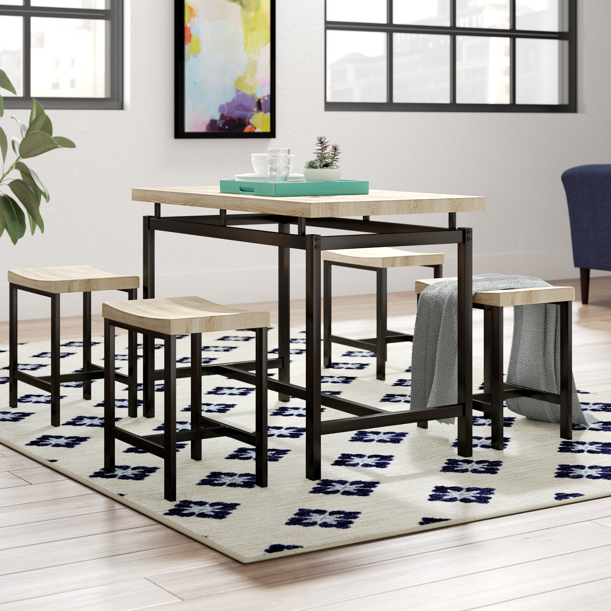 Widely Used Bryson 5 Piece Dining Sets Intended For Bryson 5 Piece Dining Set (View 2 of 20)