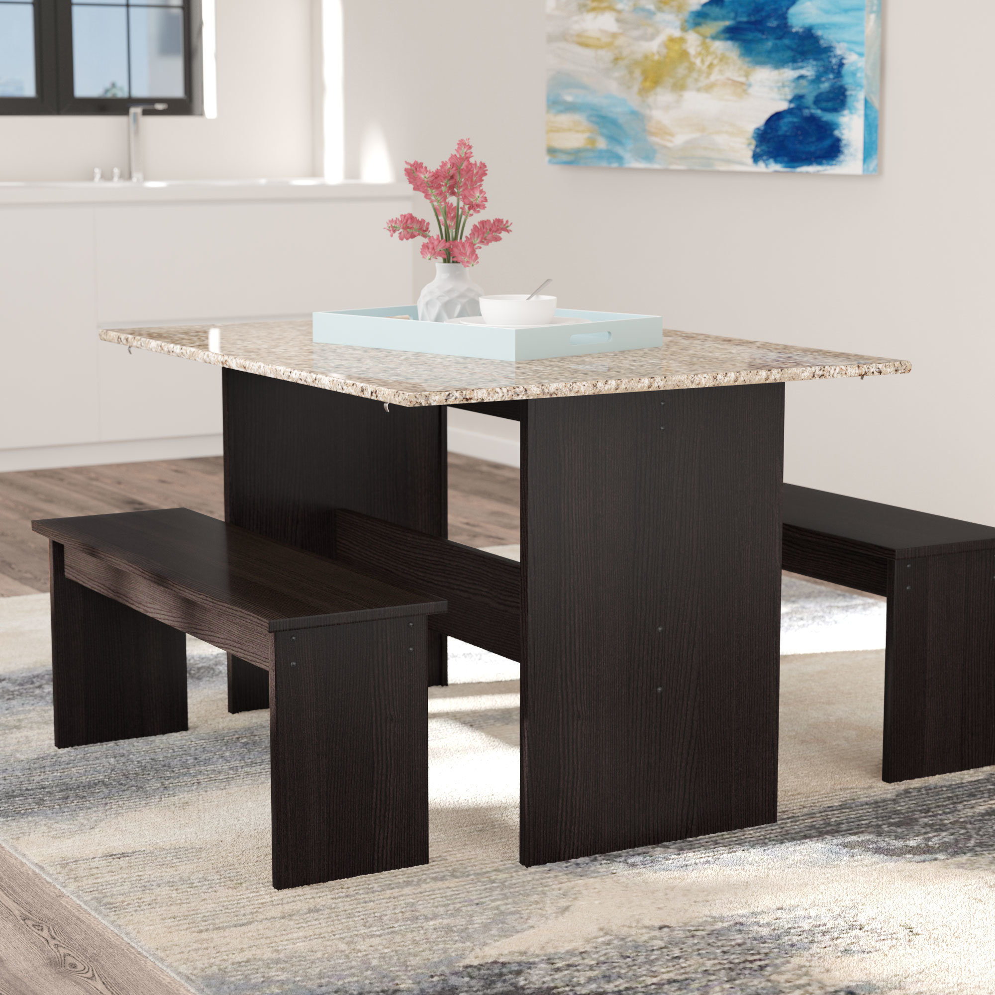 Widely Used Frida 3 Piece Dining Table Sets With Regard To Ryker 3 Piece Dining Set (View 20 of 20)
