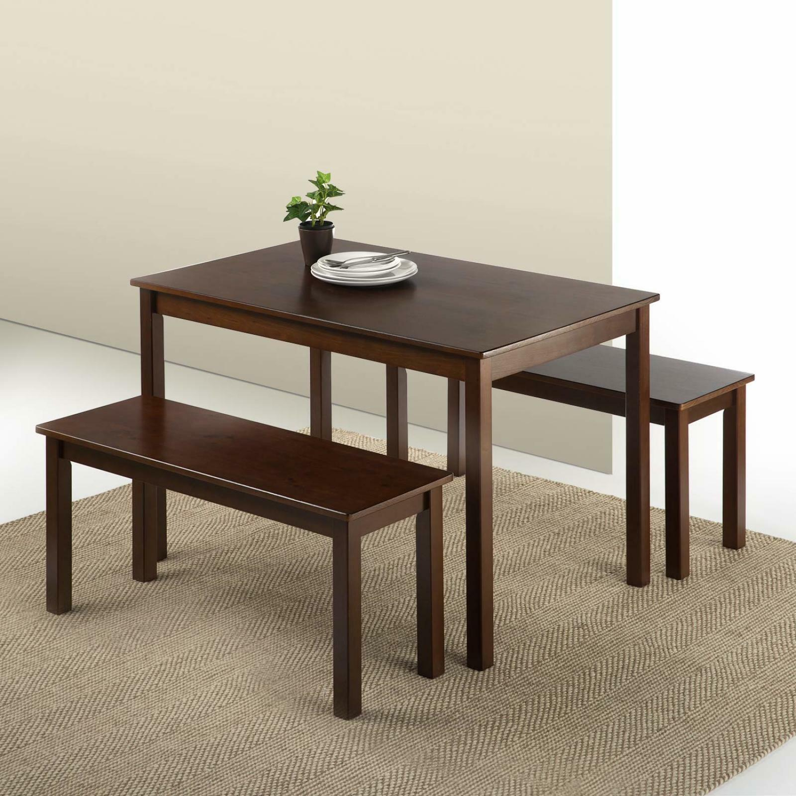 Widely Used Ligon 3 Piece Breakfast Nook Dining Sets With Espresso Wood Dining Table With 2 Benches/3 Piece Set Dining Set (View 19 of 20)