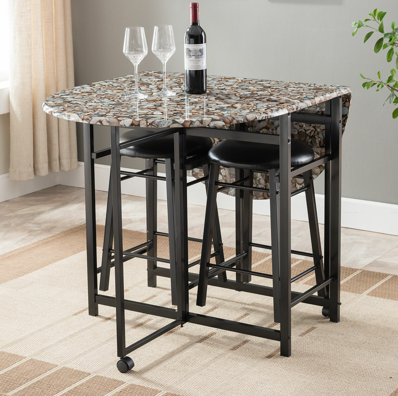 Widely Used Mizpah 3 Piece Counter Height Dining Sets Within Cuyahoga 3 Piece Pub Table Set (View 20 of 20)