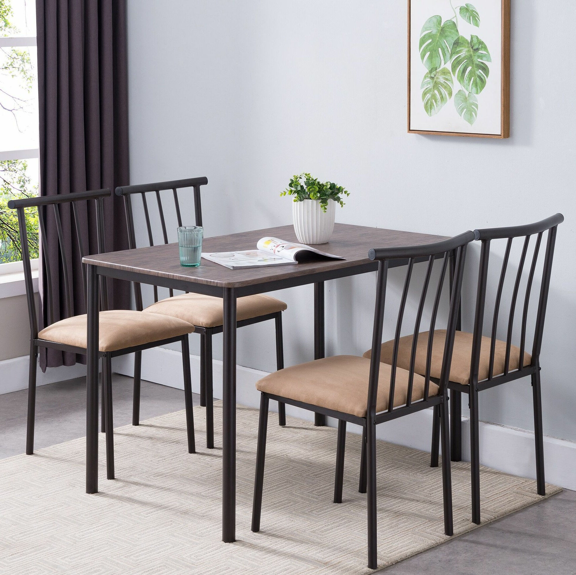 Widely Used Stclair 5 Piece Dining Set Inside Telauges 5 Piece Dining Sets (View 5 of 20)
