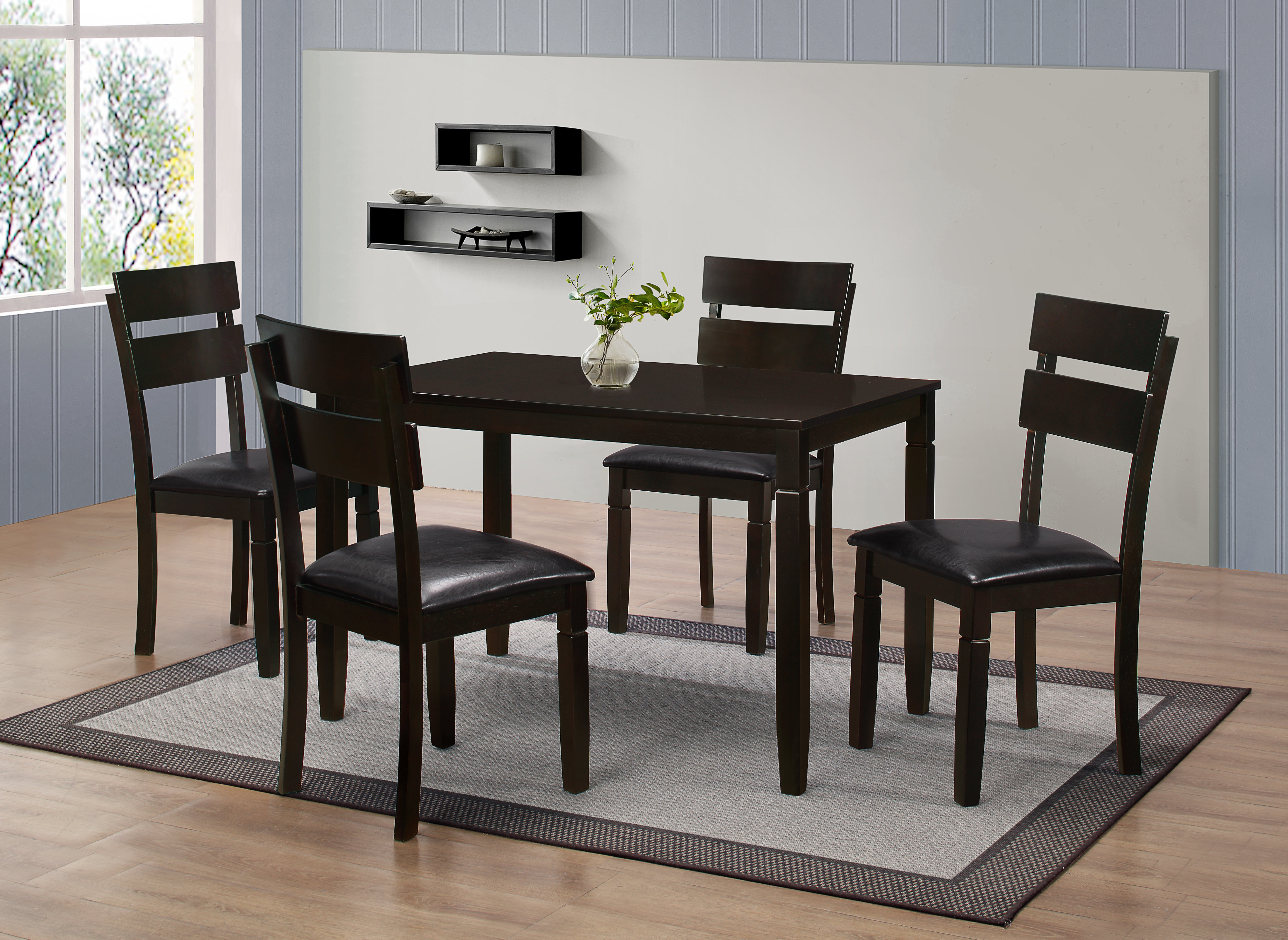 Winnetka 5 Piece Dining Set With Regard To Recent Autberry 5 Piece Dining Sets (View 16 of 20)