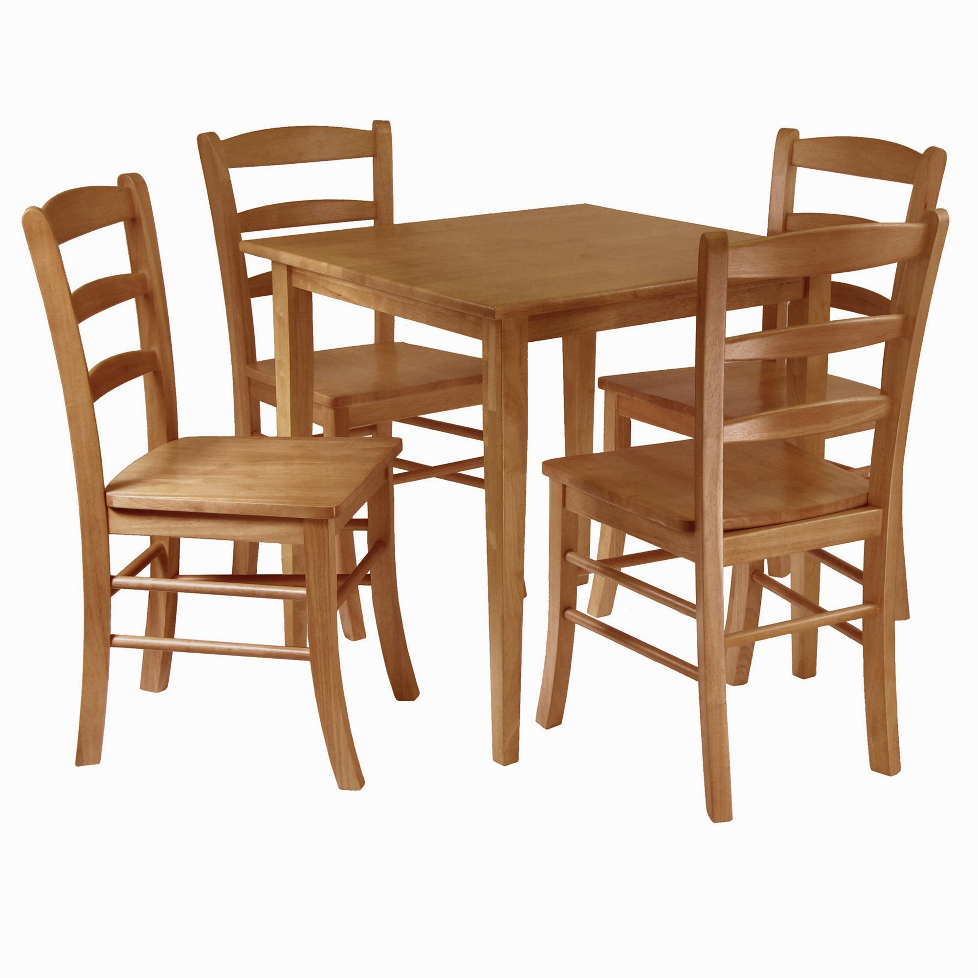 Winsome Groveland 5 Piece Wood Dining Set, Light Oak Finish In Famous Sundberg 5 Piece Solid Wood Dining Sets (View 10 of 20)