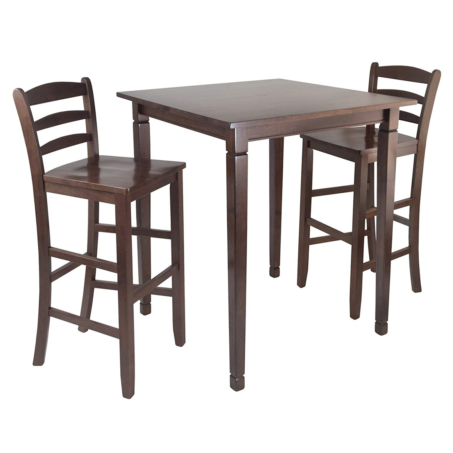 Winsome Kingsgate High/pub Dining Table With Ladder Back High Chair, 3 Piece Throughout Current Winsome 3 Piece Counter Height Dining Sets (View 18 of 20)