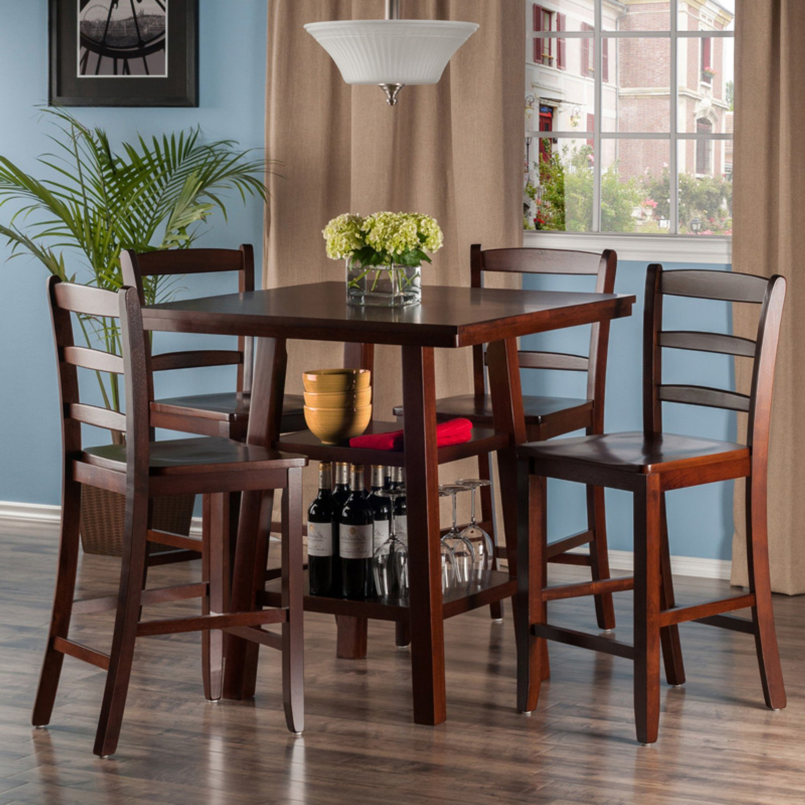 Winsome Orlando 5 Piece Counter Height Dining Table Set With In Most Recently Released Casiano 5 Piece Dining Sets (View 20 of 20)