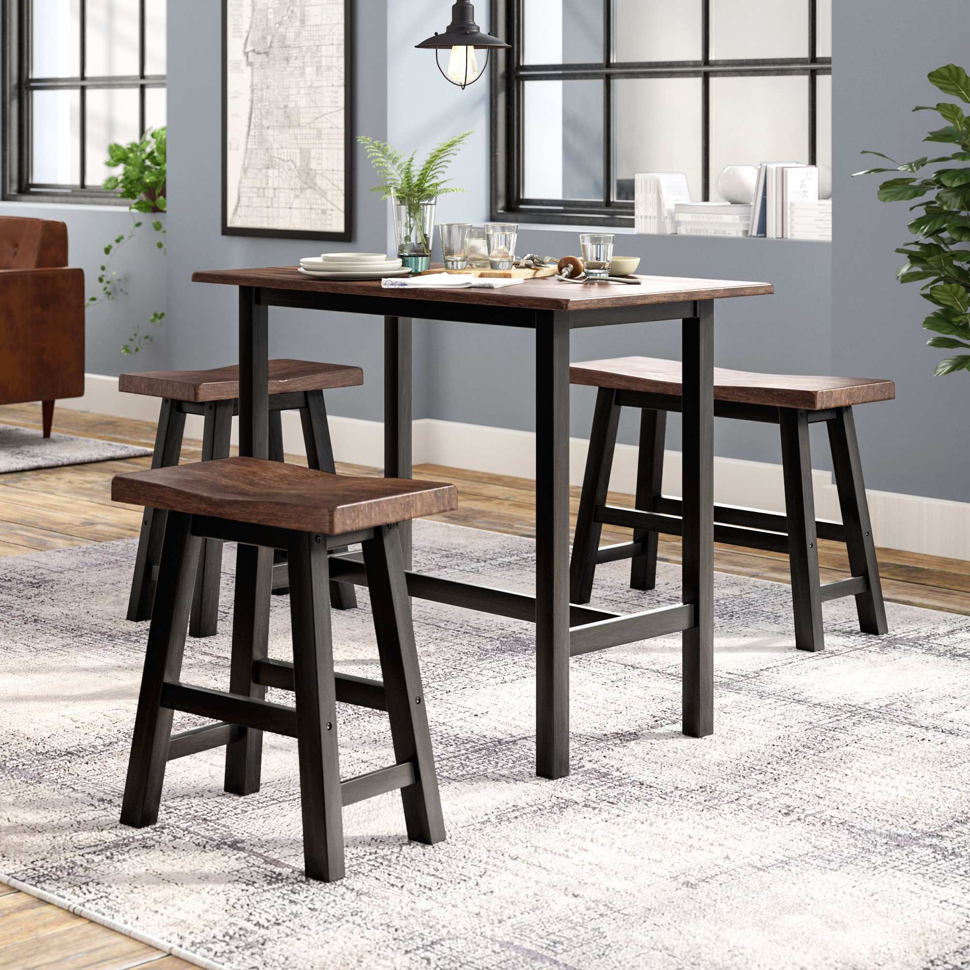 Winsted 4 Piece Counter Height Dining Sets For Favorite Chelsey 4 Piece Dining Set (View 8 of 20)