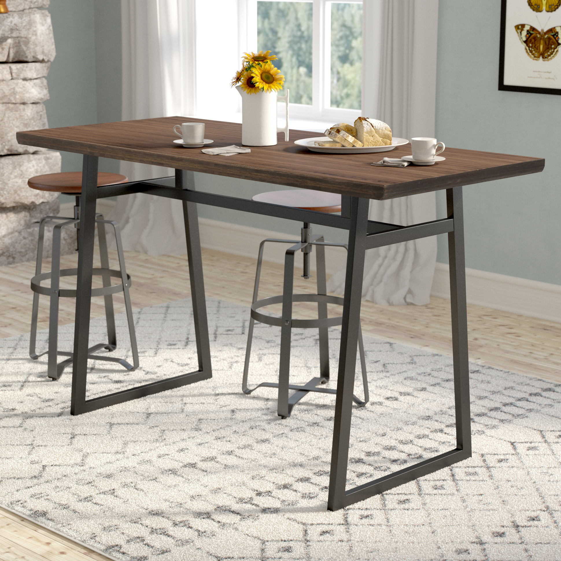 Winsted 4 Piece Counter Height Dining Sets Regarding Current Kitchen Table Counter – Home Decor Photos Gallery (View 4 of 20)