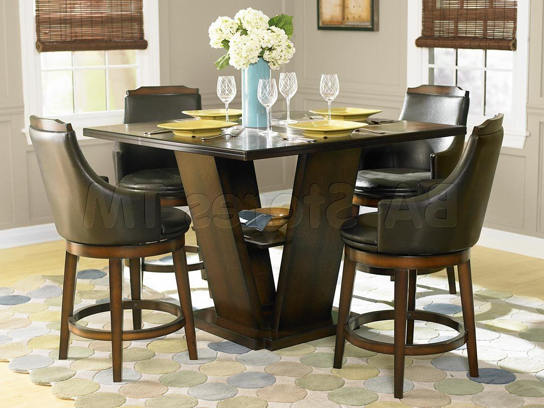 Winsted 4 Piece Counter Height Dining Sets With Fashionable Bayshore 5 Pc Counter Height Set (table And 4 Chairs) (View 14 of 20)