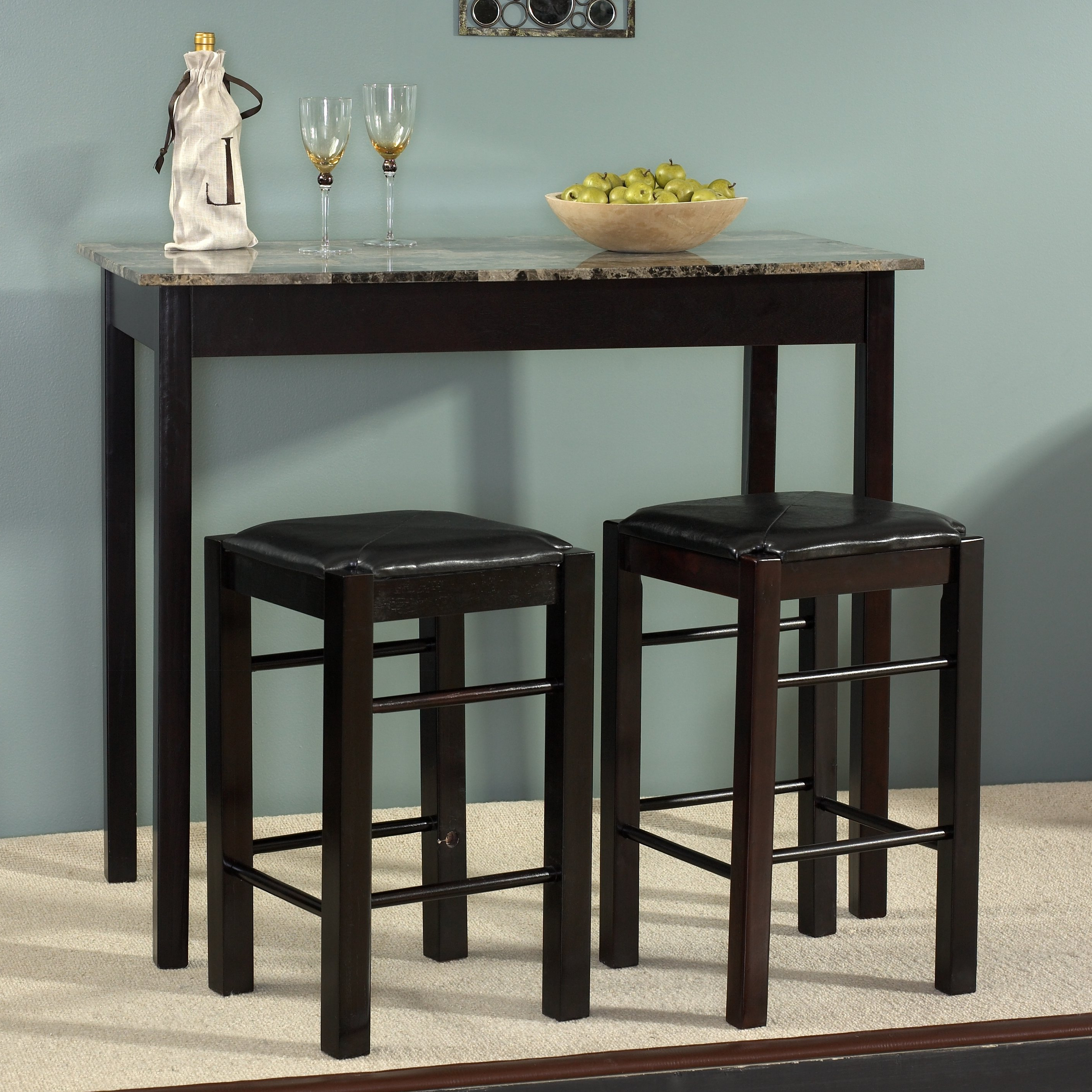 Winston Porter Sheetz 3 Piece Counter Height Dining Set Intended For Most Up To Date Berrios 3 Piece Counter Height Dining Sets (View 20 of 20)