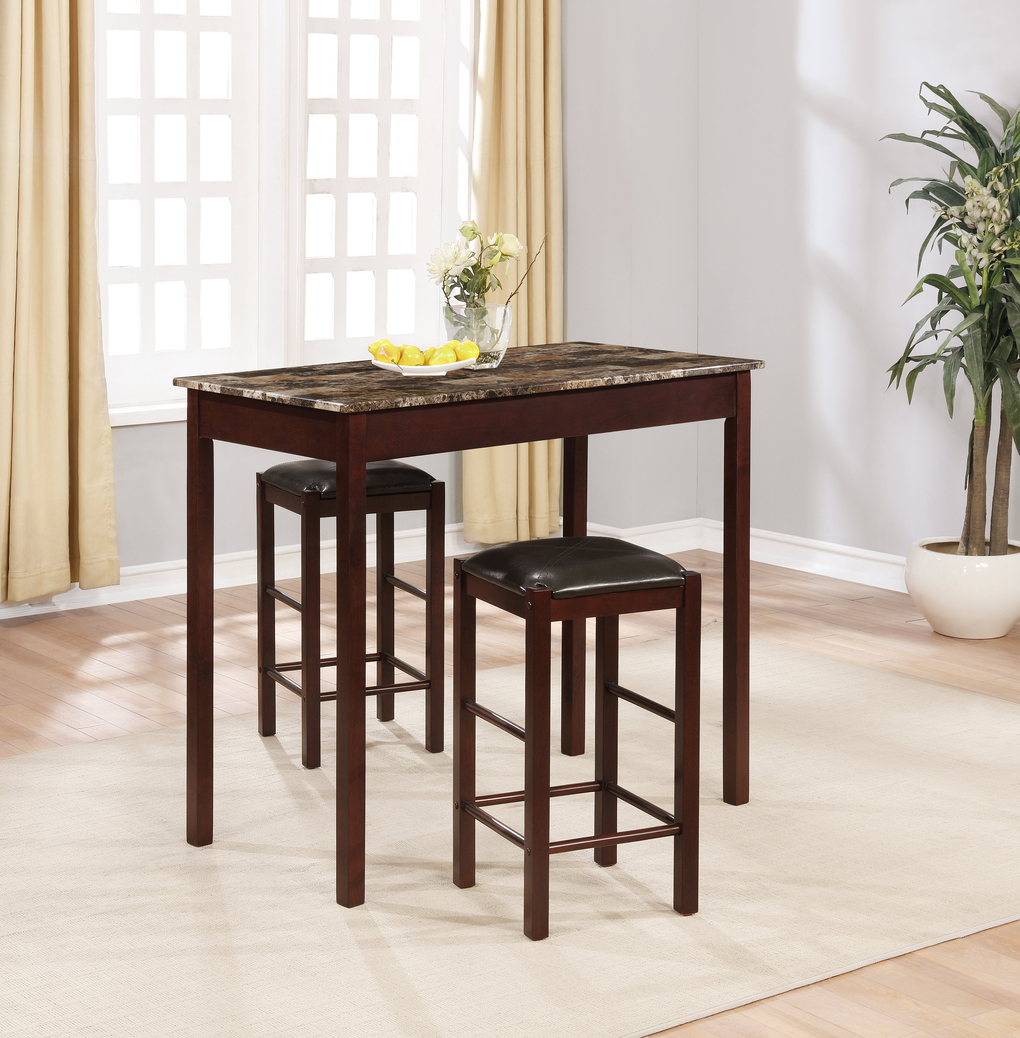 Winston Porter Sheetz 3 Piece Counter Height Dining Set With Well Known Sheetz 3 Piece Counter Height Dining Sets (View 3 of 20)