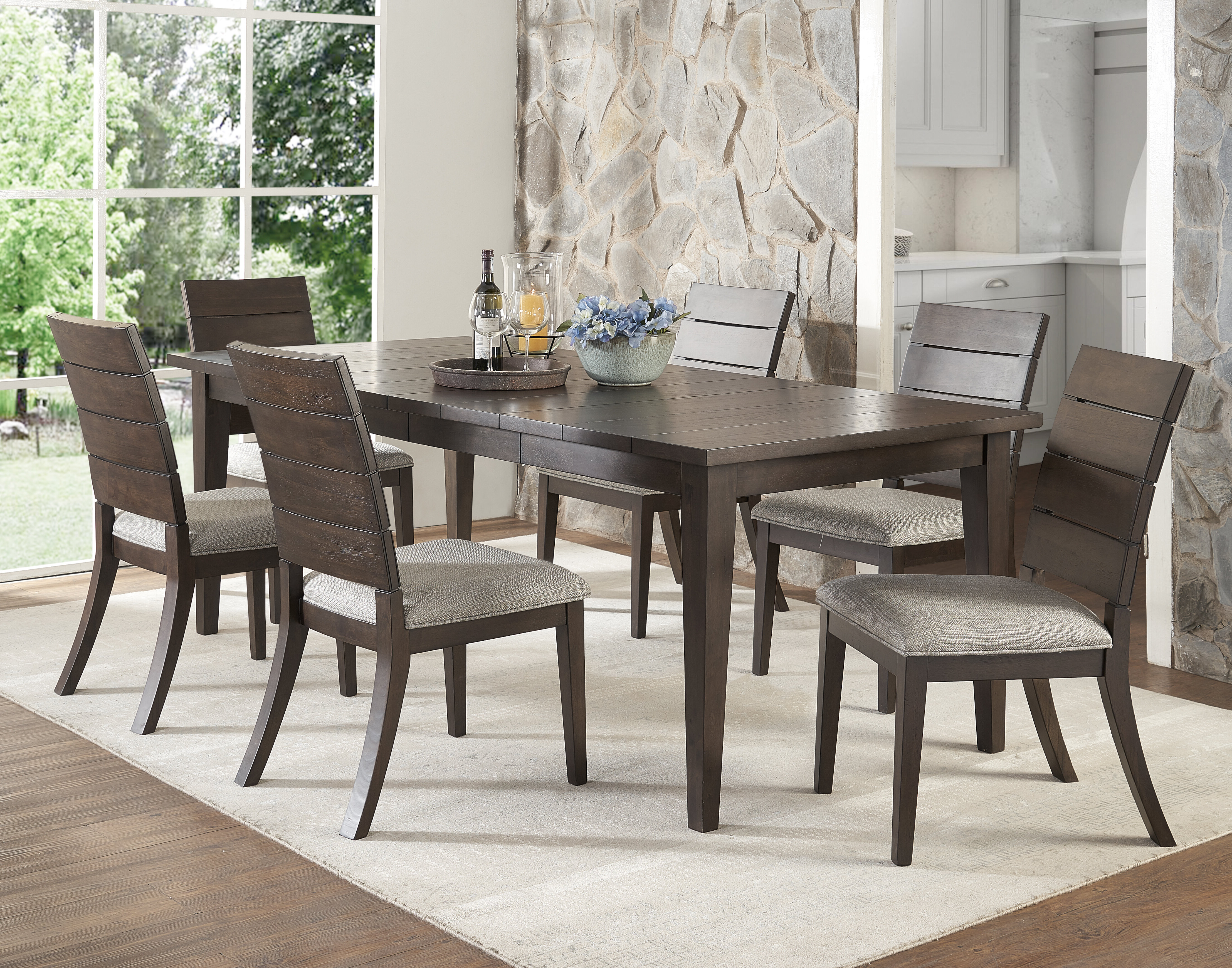 Wooton 7 Piece Extendable Dining Set With Regard To Current Hanska Wooden 5 Piece Counter Height Dining Table Sets (Set Of 5) (View 20 of 20)
