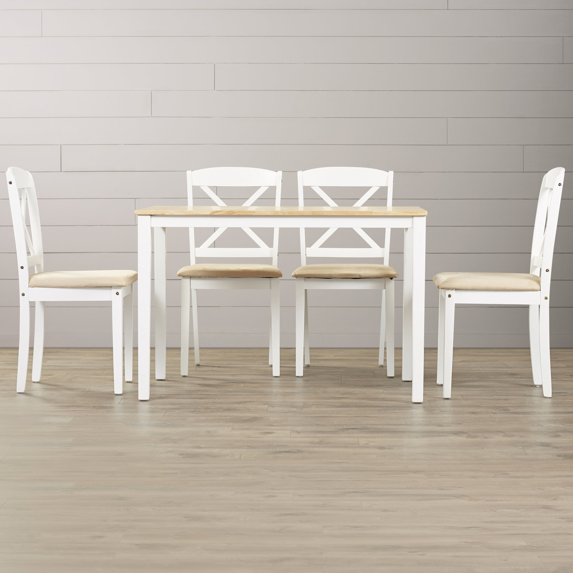Yedinak 5 Piece Solid Wood Dining Sets With Regard To Most Popular Scarlett 5 Piece Dining Set (View 20 of 20)