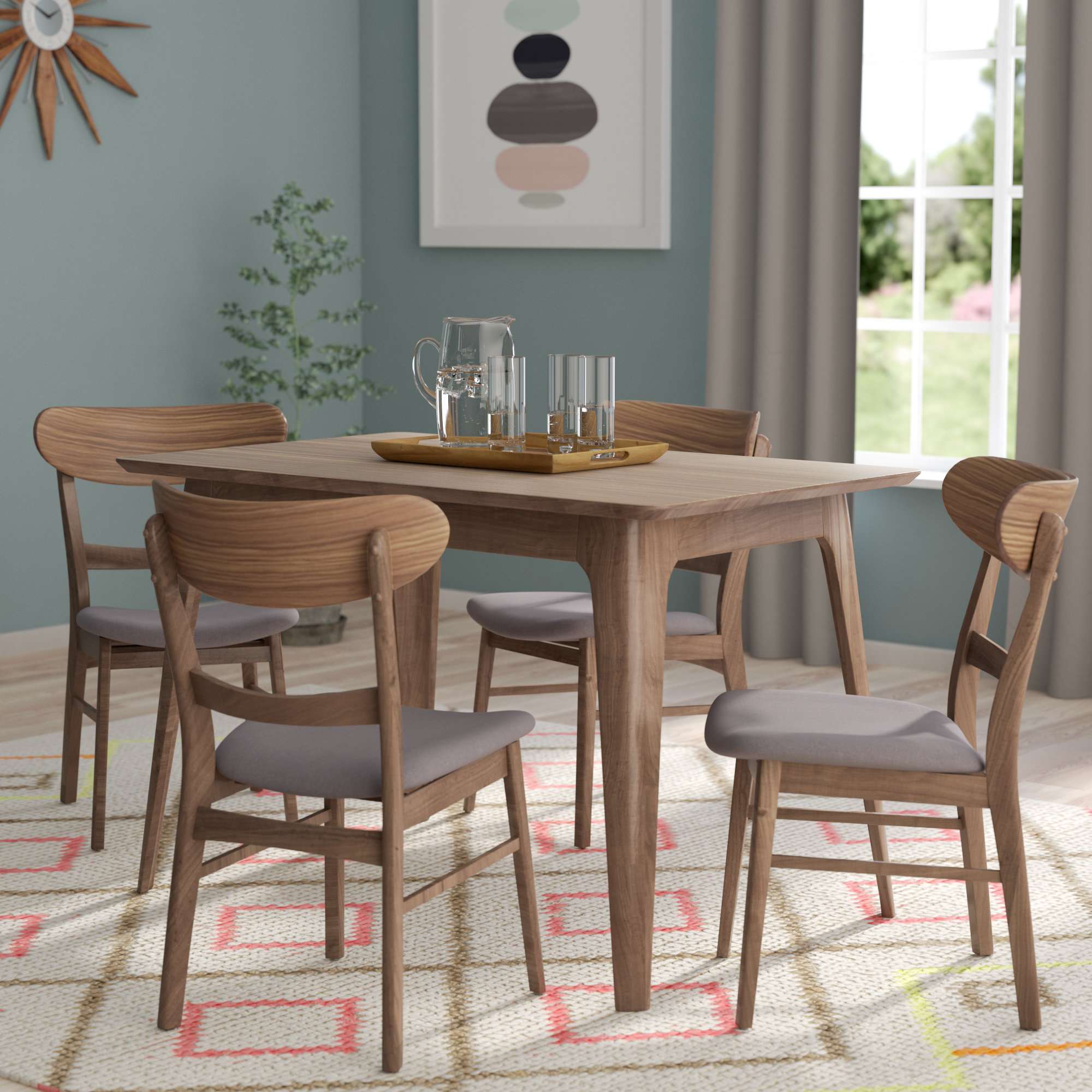 Yolanda 5 Piece Dining Set With 2017 Tejeda 5 Piece Dining Sets (Gallery 11 of 20)