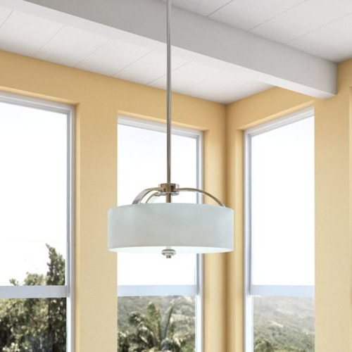 10 Top Drum Pendant Lights For Your Home With Newest Tadwick 3 Light Single Drum Chandeliers (View 1 of 30)