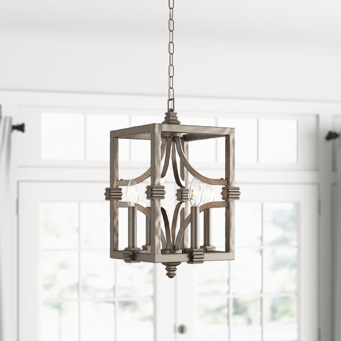 2019 4 Light Lantern Square / Rectangle Pendants Pertaining To Freeburg 4 Light Lantern Square / Rectangle Pendant (View 1 of 30)