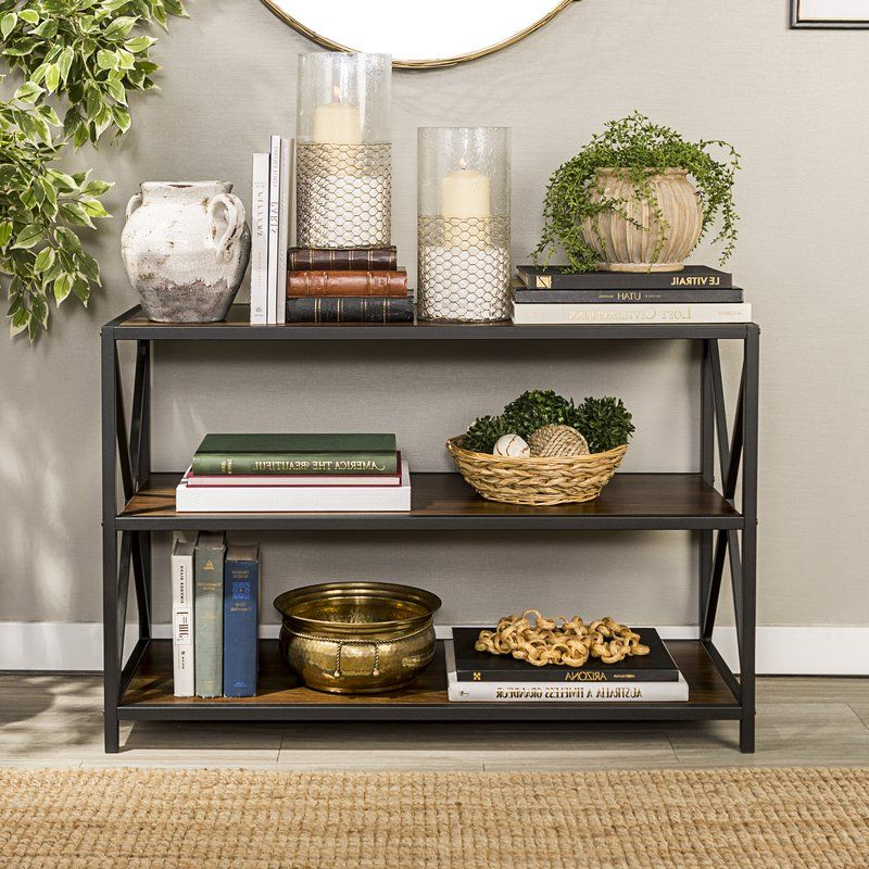 2019 Adair Etagere Bookcase In  (View 1 of 20)
