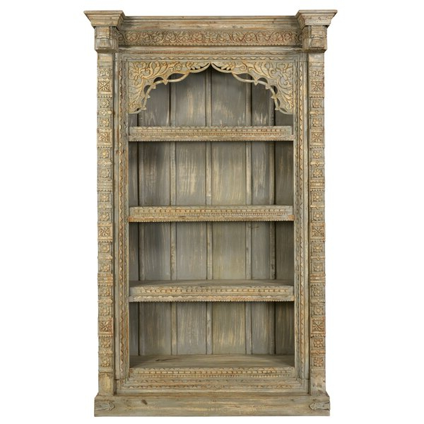 2019 Aidan Carved Standard Bookcaseone Allium Way Pertaining To Krausgrill Standard Bookcases (Gallery 11 of 20)