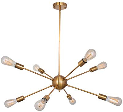 2019 Amazon: Bonlicht Modern Sputnik Chandelier Lighting 6 Intended For Silvia 6 Light Sputnik Chandeliers (View 1 of 30)