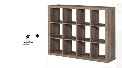 2019 Better Homes And Gardens* 12 Cube Organizer, (rustic Gray, 12 Cube + Freebie) With Lancashire Cube Bookcases (View 18 of 20)