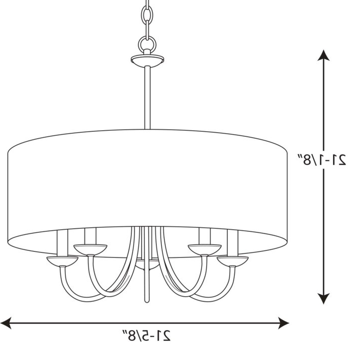 2019 Burton 5 Light Drum Chandelier For Burton 5 Light Drum Chandeliers (View 6 of 30)