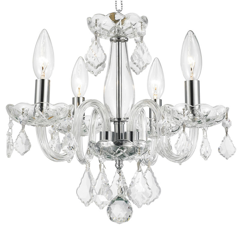 2019 Clarion Collection 4 Light Mini Chrome Finish Andclear Within Aldora 4 Light Candle Style Chandeliers (Gallery 30 of 30)