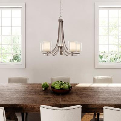 2019 Corneau 5 Light Chandeliers Regarding Candle Style – Chandeliers – Lighting – The Home Depot (View 17 of 30)