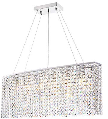 2019 Crystal 5 Light Chandelier – – Amazon Pertaining To Blanchette 5 Light Candle Style Chandeliers (View 3 of 30)
