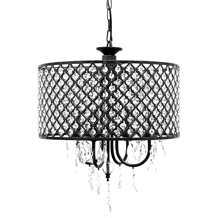 2019 Gisselle 4 Light Drum Chandeliers Pertaining To Gisselle 4 Light Drum Chandelier (View 1 of 30)