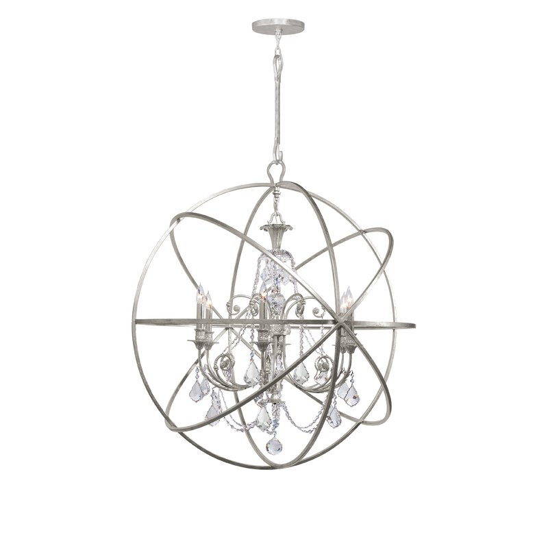 2019 Gregoire 6 Light Globe Chandelier Within Gregoire 6 Light Globe Chandeliers (View 1 of 30)