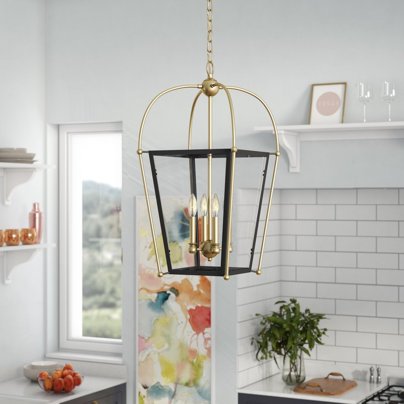 2019 Hedstrom 4 Light Foyer Lantern Pendant Pertaining To Finnick 4 Light Foyer Pendants (Gallery 20 of 30)
