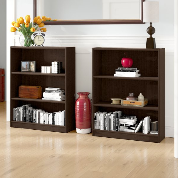 2019 Herrin 2 Tier Standard Bookcases Pertaining To Hilbert Standard Bookcase (Set Of 2)Red Barrel Studio (Gallery 19 of 20)