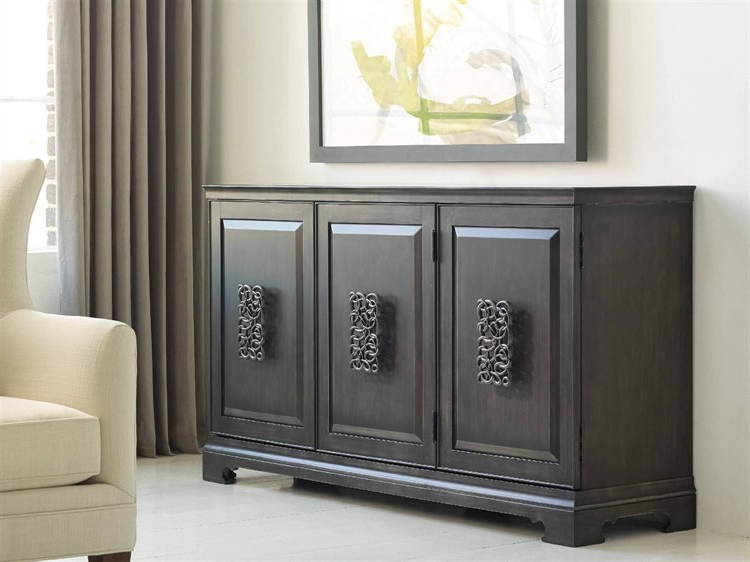 2019 Hooker Furniture Melange Charcoal Gray 64''l X 18''w Rectangular Brockton  Credenza Buffet Pertaining To Melange Brockton Sideboards (Gallery 3 of 20)