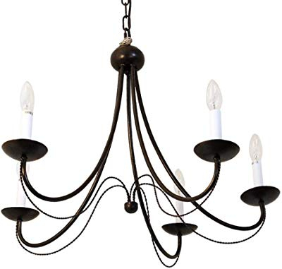 2019 Iron 8 Light Black Chandelier – – Amazon Pertaining To Shaylee 8 Light Candle Style Chandeliers (View 22 of 30)