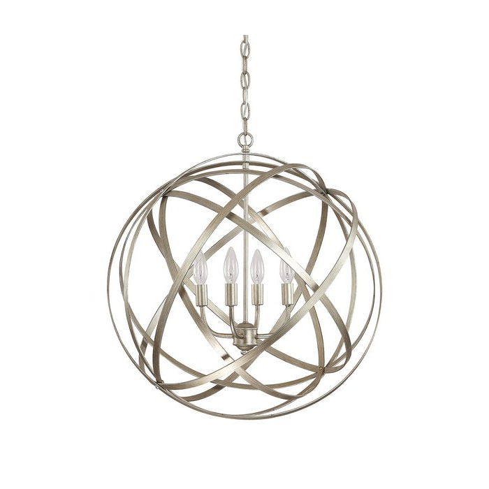 2019 Kierra 4 Light Unique / Statement Chandelier Intended For Kierra 4 Light Unique / Statement Chandeliers (View 1 of 30)