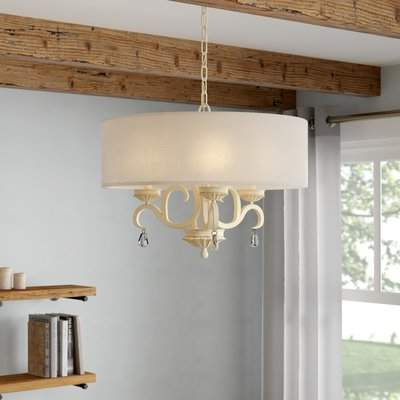 2019 Kierra 4 Light Unique / Statement Chandeliers With Regard To & Co. Khaled 3 Light Drum Chandelier & Co. (Gallery 20 of 30)