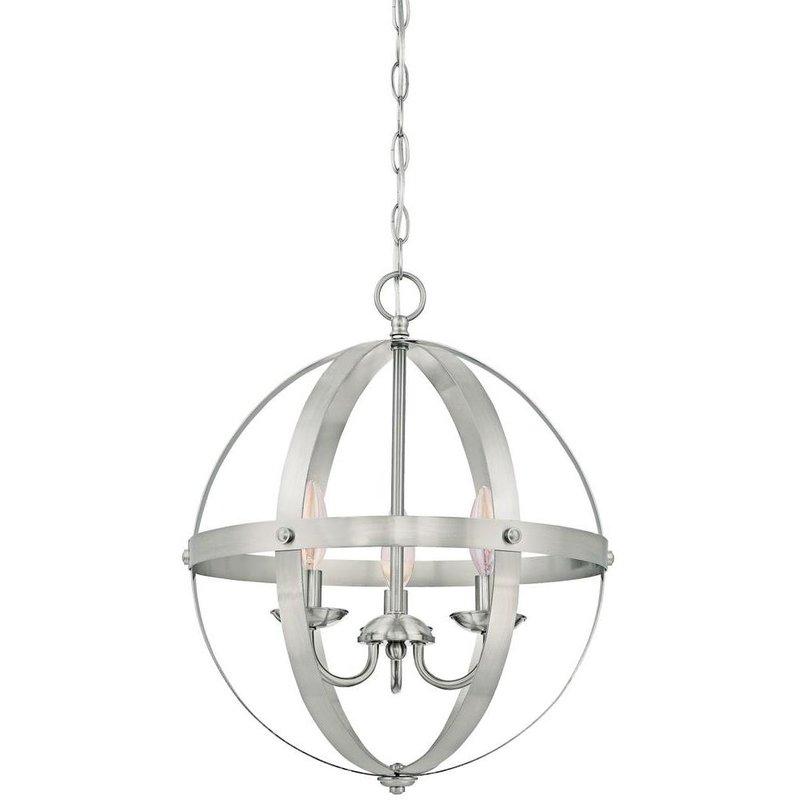 2019 La Barge 3 Light Globe Chandeliers With La Barge 3 Light Globe Chandelier (Gallery 3 of 30)