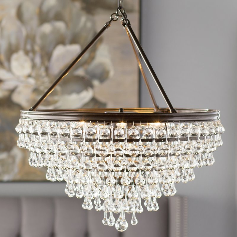 2019 Ladonna 5 Light Novelty Chandeliers Throughout Devanna 8 Light Crystal Chandelier (Gallery 19 of 30)
