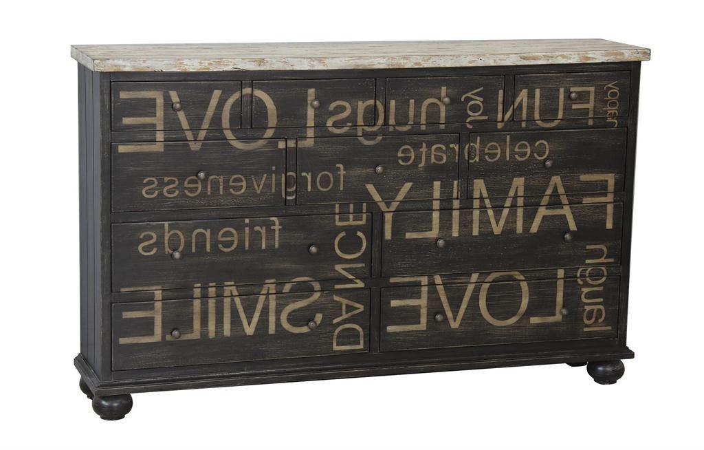 2019 Massillon Sideboards In Distressed Black Credenza 675067Pulaski – Pulaski (Gallery 12 of 20)