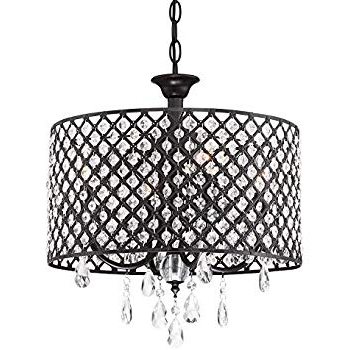 2019 Mckamey 4 Light Crystal Chandeliers Intended For Edvivi Marya 4 Lights Oil Rubbed Bronze Round Crystal (View 25 of 30)