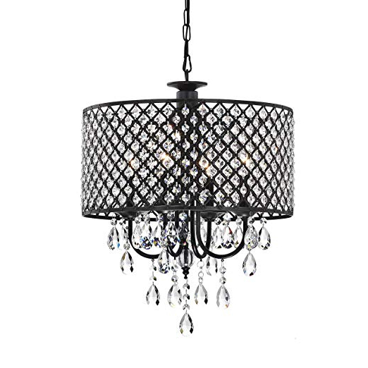 2019 Mckamey 4 Light Crystal Chandeliers Pertaining To Jojospring Antique 4 Light Round Chandelier … (View 2 of 30)