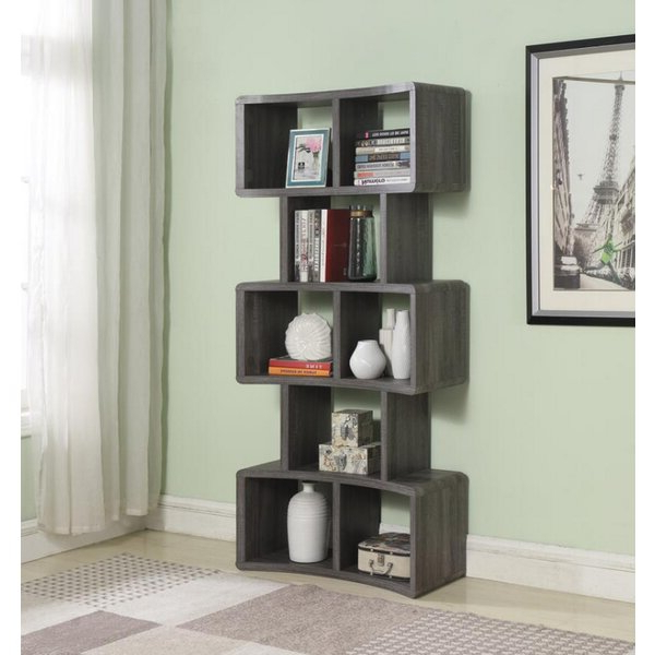 2019 Mckibben Geometric Bookcases With Madison Etagere Bookcaseone Allium Way (Gallery 17 of 20)