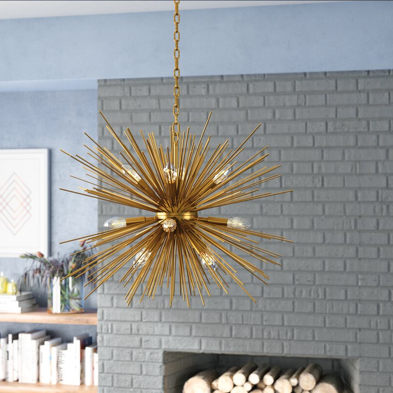 2019 Nelly 12 Light Sputnik Chandeliers With Duron 12 Light Sputnik Chandelier (Gallery 6 of 30)