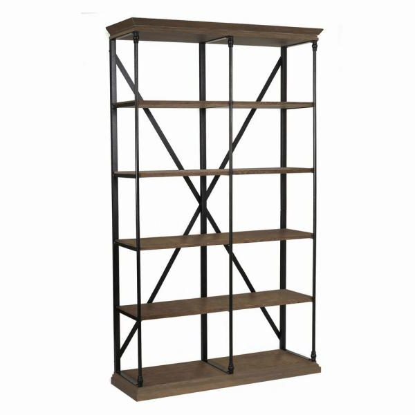 2019 Noble House Brown 5 Tier Etagere Shelf 295787 – The Home Depot In Blairs Etagere Bookcases (Gallery 20 of 20)